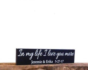 Personalized wood love sign - Wedding gift sign - home decor wall hanging