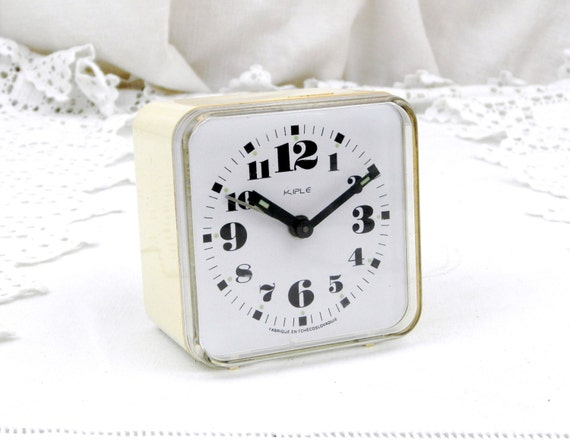 Working Vintage Mid Century Kiple Mechanical Alarm Clock from Eastern Europe, Czechoslovakia Retro Wind-up Clock, European Time Piece