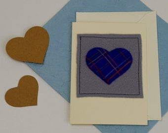 Anniversary Card - Handmade Heart Greetings Card - Heart Card - Blank inside - Wedding Card