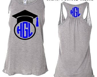 Graduation Shirt, Class of 2018 Shirt, Monogram Tank, class of 2018, graduation gift,senior shirt, senior 2018, graduate shirt, graduate