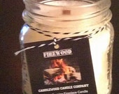 FIREWOOD - Authentic Wood Burning Wood Wick Fireplace Candle 9.6 oz.