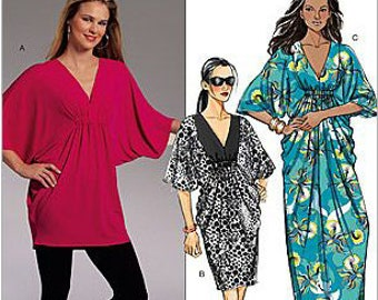 Butterick B5329 Misses Tunic, Dress, Caftan or Beach Cover Up Sewing Pattern