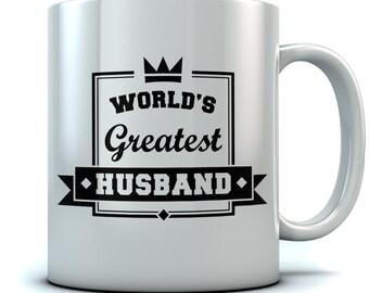 World's Greatest Husband Valentines Wedding Anniversary Gift for Couples Ceramic Coffee\Tea Mug