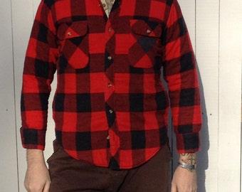 Plaid Shacket; Lined Shirt- Jacket