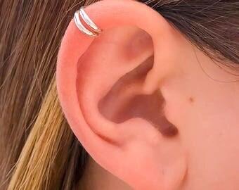 Silver Cartilage Ear Cuff, Sterling Silver Non Piercing Ear Cuff