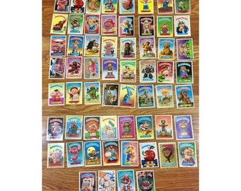 Garbage Pail Kids, Garbage Pail Kids Cards, GARBAGE PAIL KIDS Cards Stickers, Vintage 1980s Topps Chewing Gum Collectibles, 60 (Sixty) Cards