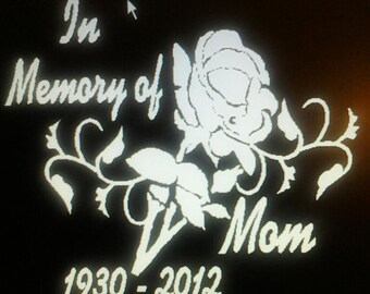 In Memory Rose and Vines