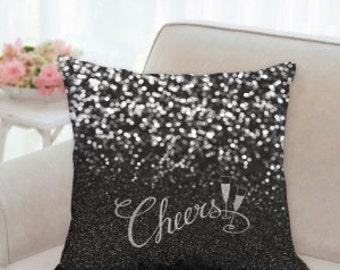 New Years Designer Pillow (Cheers)