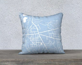 Fayetteville NY Map Pillow Cover