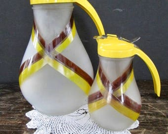 Set of 1950s Drispout Pitcher and Syrup