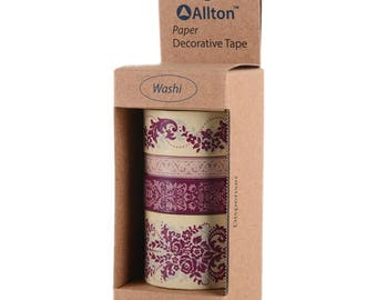 Washi Tape Set - Floral Washi Tape - Damask Washi Tape - Victorian Washi Tape - Victoria Victorian - Allton - 399012