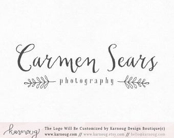 Wreath Logo Leaf Logo Rustic Logo Photography Logo Premade Logo Watermark Logo Business Logo Branding Logo Custom Logo Logos and Watermarks