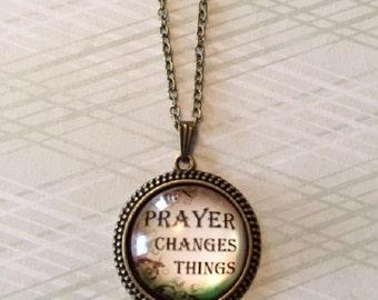 Prayer Necklace - Prayer Jewelry - Religious Jewelry - Religious Gifts - Religious Necklace - Religious Pendants - Inspirational Necklace