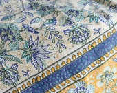 Crysanthem Indian Block Print Tablecloth...
