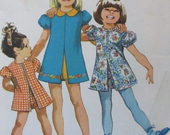 RESERVED For Jill  Vintage 1972  Simplicity Sewing Pattern Toddler Girls Dress  And  Shorts Jiffy Pattern #9895  Size 2
