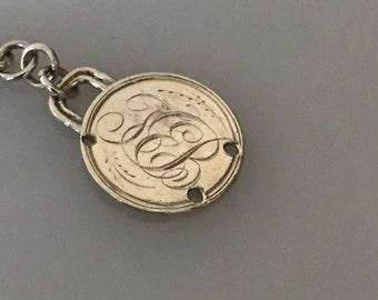 Antique Love Token Name T E B  TEB Bracelet or Necklace  Victorian Fob Pendant   #CELESTEANDCOGEMS