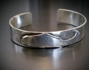 Solid Sterling Fish Cuff