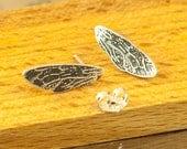 Bee wings earrings silver