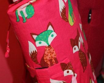 Pink fox yoga mat bag