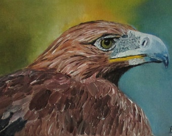 eagle painting ,eagle art,  bird painting, animal painting, original painting, fine art, oil painting