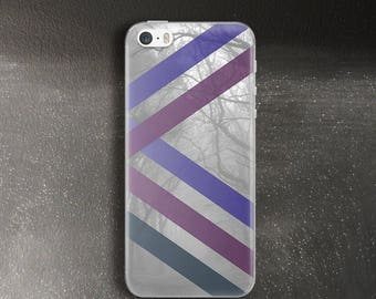 Grey and purple stripe case for iPhone 5 case for iPhone se Case rubber for iPhone 5s Case for iPhone 5c Gift for men Case for iPhone 4