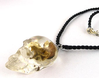 necklace, resin, Gothic, Goth, Skull