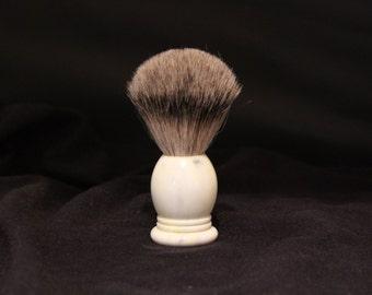 Acrylic Creme Shaving Brush 20mm Best Badger Hair Large Shaving Brush made by Swamphouse Woodworks