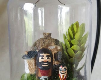 Harry Potter and Hagrid ornament