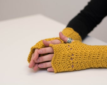 56# Fingerless crochet gloves | Instant download