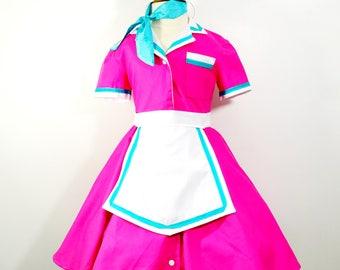 Pink V8 Diner Waitress Costume