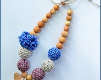 Juniper owl/ Nursing necklace / Teething necklace / Breastfeeding Necklace for Mom /