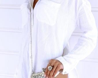 Ladies silver bridal bag, silver purse, silver wedding bag, beaded clutch, Bohemian clutch, silver beaded, cross body bag, bridal purse.