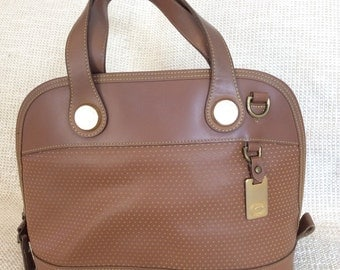 Genuine vintage DOONEY & BOURKE tan leather satchel bag