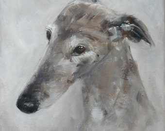 Spanish greyhound (Galgo)  - original painting