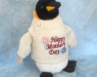 Happy Mother's Day Penguin Plush