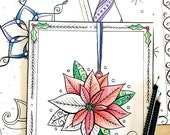 Christmas Tree Ornaments Advent Calendar Coloring Pages - Downloadable Printable Holiday Coloring Book