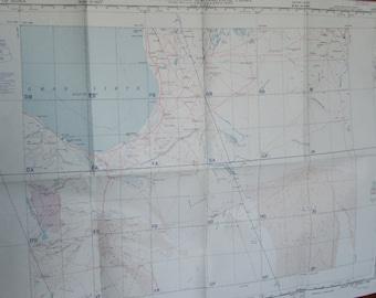 Gulf Of Sidra- Libya- R.A.F 1:1,000.000 Aeronautical Chart-Vintage Aviation Chart- 1956