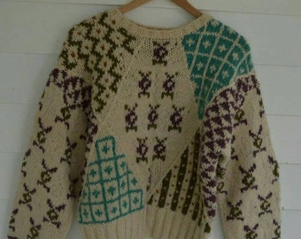 SALE Vintage Abstract Sweater