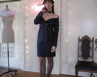 90's Claude Montana Skirt Suit sz Sm