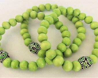Lime Green Awareness Bracelet