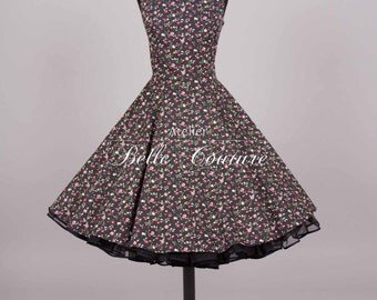 Custom Made & Handmade - 50s Rockabilly Petticoat Dress item: M6-15