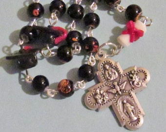 Graduation Rosary with Cap and Diploma *Catholic,Christian gift,prayer,chaplet,school,crucifix,student gift,senior year,unique gift