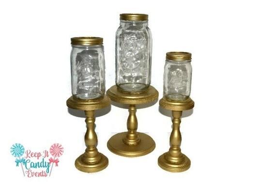 Gold Mason Jar Apothecary Jars Decorative Home Decor