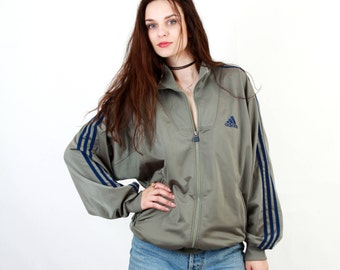 90s Adidas / Adidas Air / Gray Adidas / Three Stripes / Adidas Jacket / Adidas track Jacket / Glossy Adidas