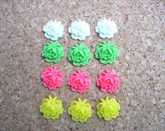 Decorative Push Pins, Pretty Flower Tacks, Pink, Green, White, Office Cubicle decor, Coworker gift, Desk Accessories, Cute Office Accessory