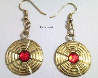 brass metal earring