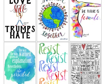 Protest art postcards - Set of 6