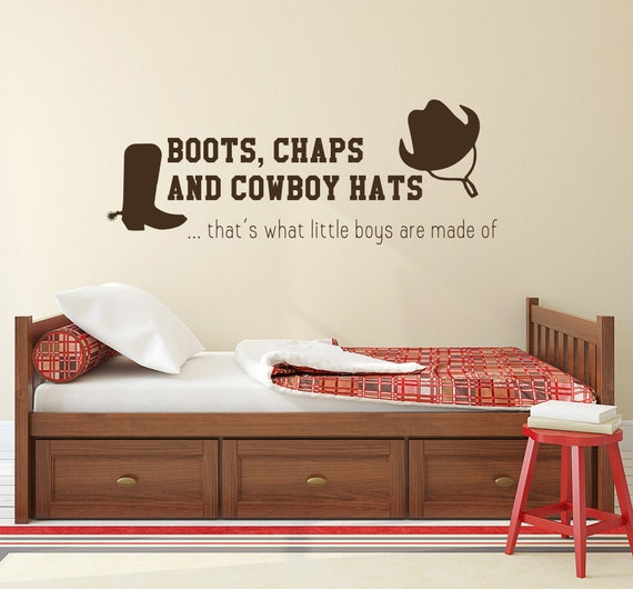Boots Chaps Hats Wall Decal by BestDecals