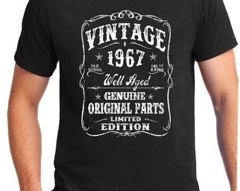 50th Birthday Gift -  Shirt Turning 50 - 50 Years Old - VINTAGE 1967 Shirt - Tee - Gift for Him -  Limited Edition brother born in 1967