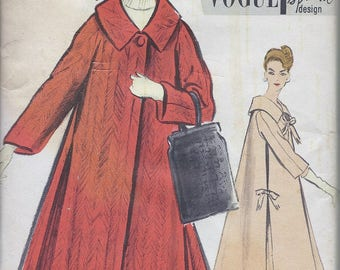 60s Vogue 4847 Misses' Coat Sewing Pattern